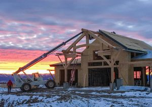 Timber Frame Home in Construction