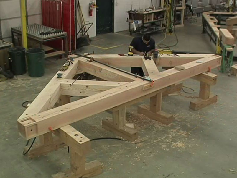 Timber Truss Pre-Fit before Installation