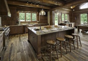 cabinets can have appliance garages to save counter space