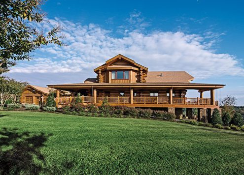 LEED certified gold log home