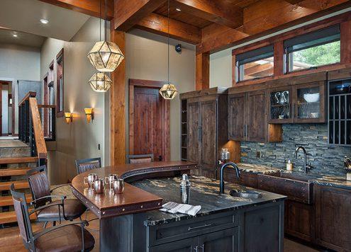 Kitchen with unique fixtures