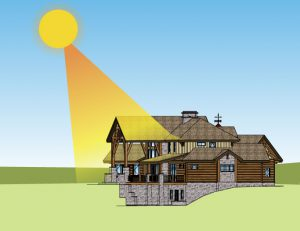 Windows With Eaves Offer Sun Protection