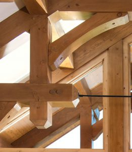 Timber Frame Made from West Coast Douglas Fir