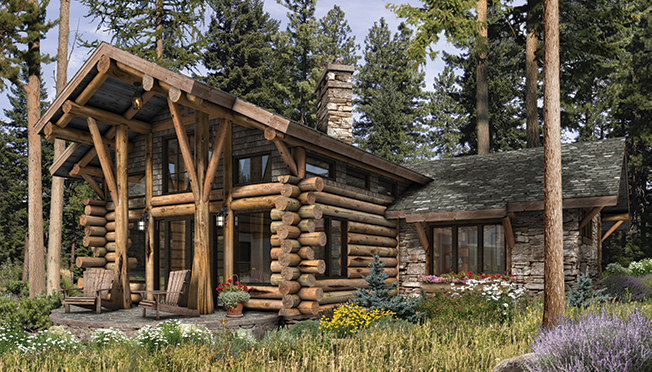 Telluride luxury home rendering by precisioncraft