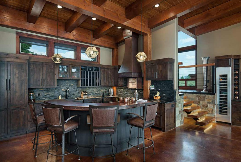 luxury montana lake home timber frame