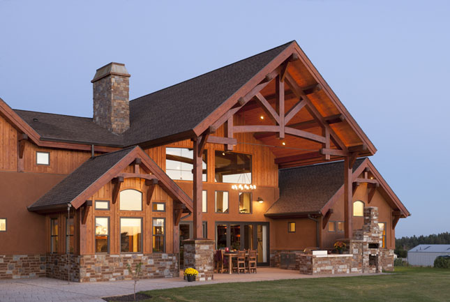 luxury timber home by precisioncraft with expansive patio space