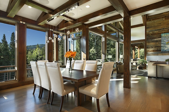 dining room in a luxury park city home