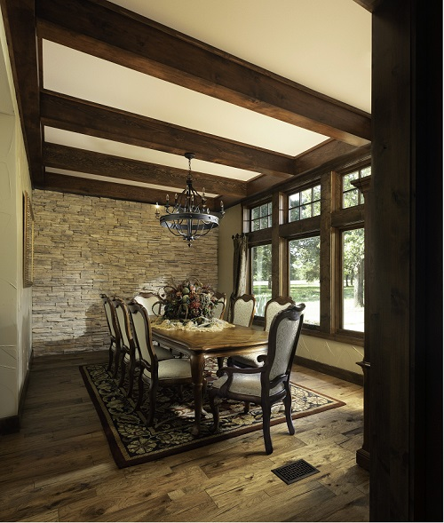 dining room in texas custom home