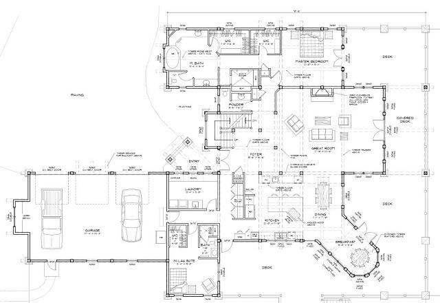 custom home floor plan with breakfast nook