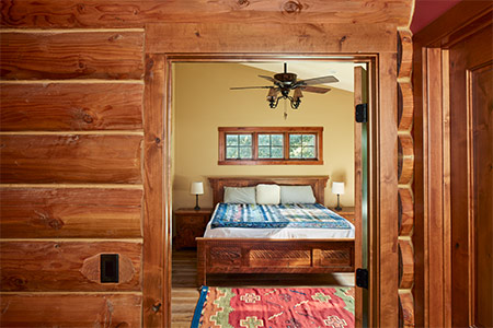 Master suite on main level is perfect for aging in place