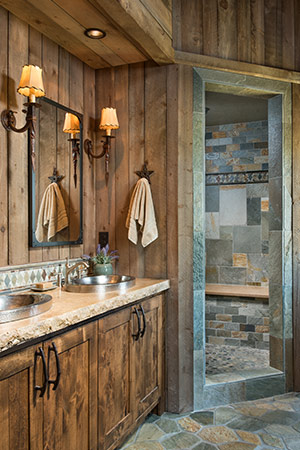 Contrasting tiles in the shower help with depth perception as you age